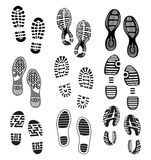 Imprint Soles Shoes Stock Photos