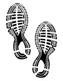 Imprint soles shoes - sneakers Stock Image
