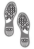 Imprint soles shoes - sneakers Royalty Free Stock Photo