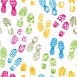 Imprint soles shoes stock illustration