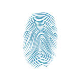 Imprint of the thumb finger human hand on white Stock Photo