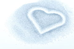 Imprinted heart in sugar Stock Photos