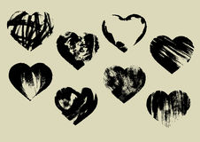 Imprinted hearts Stock Images