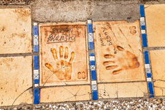 Imprints of hands in Cannes Royalty Free Stock Photos