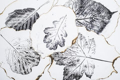 Imprints of leaves. Artistic image - imprints of leaves - Graphics - monotype Stock Photography