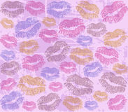 Imprints of lips. Vector background with the imprints of lips Royalty Free Stock Photo