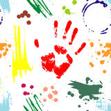 Imprints and spots from paints. Stock Images