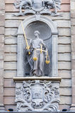 imprisoned lady justice in chains Royalty Free Stock Photos