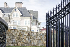 Imprisonment in luxury. Security issues of a luxury house Royalty Free Stock Image