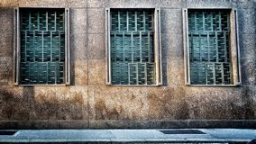 Imprisonment. Old Palace like prison Royalty Free Stock Photo