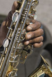 Impromptu jazz. Street musician Charleston, SC royalty free stock images