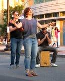 Impromptu Street Performance Stock Photo