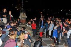 Impromptu vigil for Gord Downie in Ottawa, Canada Stock Images