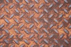 Impronta arrugginita del metallo Fotografia Stock Libera da Diritti