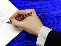 Impronta del contratto di affari Immagine Stock Libera da Diritti