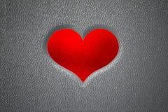 impronta del cuore 3d sulla pelle Fotografie Stock Libere da Diritti