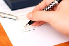 Impronta di contratto Immagine Stock Libera da Diritti