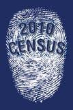 Impronta digitale 2010 di censimento Fotografia Stock Libera da Diritti