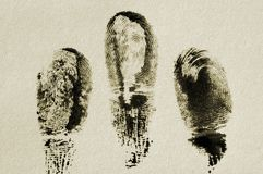 Impronta digitale. Fotografia Stock