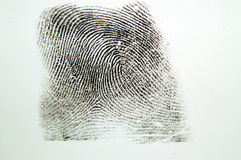 Impronta digitale Fotografie Stock Libere da Diritti