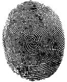 Impronta digitale Immagini Stock