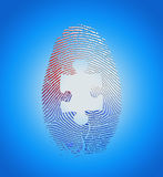 Impronta digitale americana con il puzzle Fotografia Stock