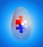 Impronta digitale americana con il puzzle Fotografia Stock Libera da Diritti