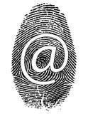 Impronta digitale con il simbolo Immagine Stock Libera da Diritti
