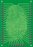Impronta digitale cyber Fotografia Stock