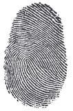 Impronta digitale del carbonio Fotografia Stock Libera da Diritti