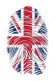 Impronta digitale del Regno Unito Fotografia Stock