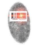 Impronta digitale di esame Fotografie Stock