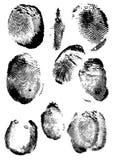Impronta digitale di Grunge Fotografie Stock