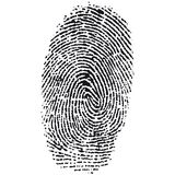 Impronta digitale di vettore Fotografia Stock Libera da Diritti