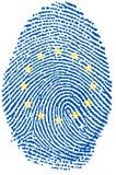 Impronta digitale - Europa Immagini Stock Libere da Diritti