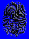 Impronta digitale impressa di vettore Fotografia Stock