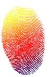 Impronta digitale isolata Fotografia Stock Libera da Diritti