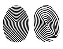 Impronta digitale su bianco Fotografia Stock Libera da Diritti