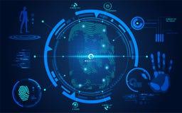Impronta digitale tecnologica astratta illustrazione di stock