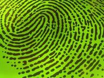 Impronta digitale verde Fotografie Stock Libere da Diritti