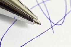 Impronta e penna Immagini Stock