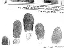 Impronte digitali Immagine Stock Libera da Diritti