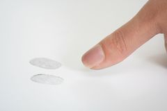 Impronte digitali Fotografie Stock