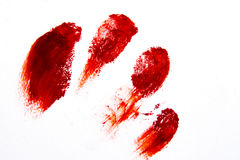 Impronte digitali di rosso di Bloodly Immagine Stock Libera da Diritti