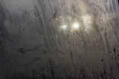Impronte digitali e sporcizia sulla finestra Immagine Stock Libera da Diritti