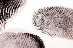 Impronte digitali nere dell'inchiostro Immagini Stock Libere da Diritti
