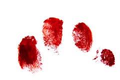 Impronte digitali rosse sanguinose Immagini Stock Libere da Diritti