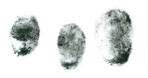 impronte digitali su un fondo bianco Immagini Stock