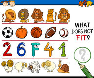 Improper element task for kids Stock Image