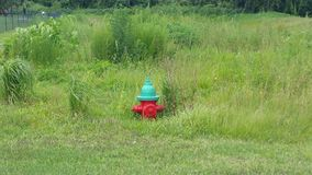 Improper fire hydrant installation stock images